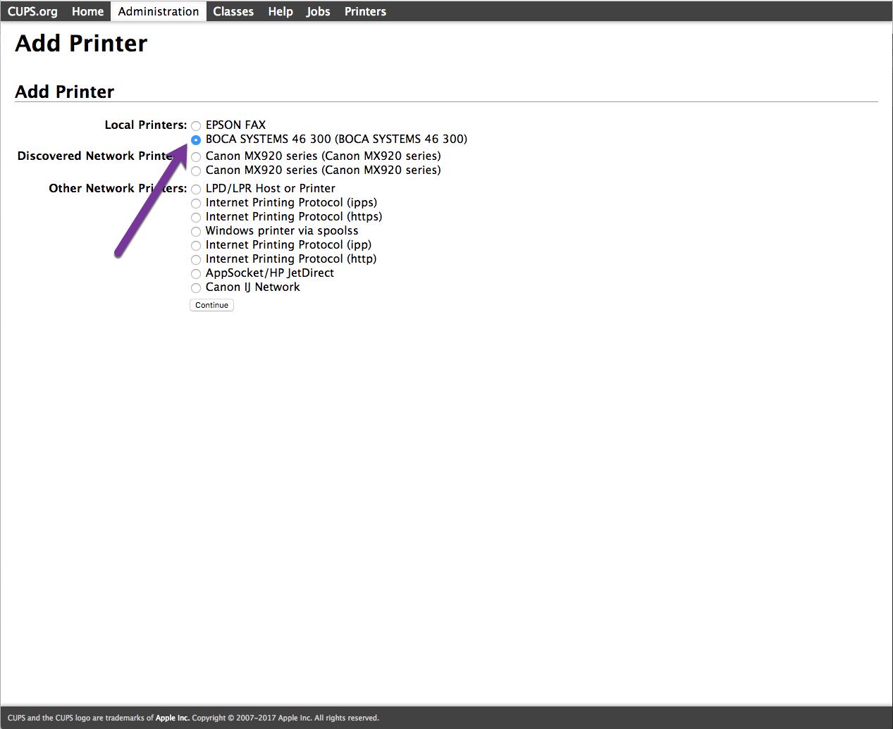 Enterprise: How Print Boca FGL tickets on an Apple/Mac